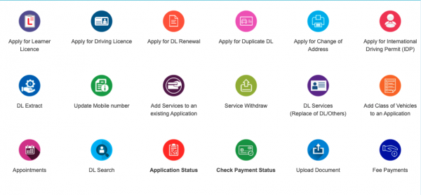 How to Apply Online for New Driving Licence or Renew or Update Address or Mobile number or New leaner License
