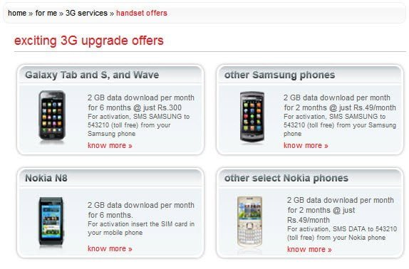 Airtel 3G upgrades