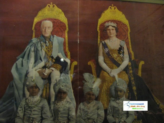 Jaisalmer Fort Museum Colour photograph of British Viceroys with Young Kings of Jaisalmer