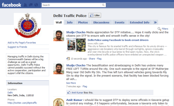 Delhi Police on Facebook and Twitter