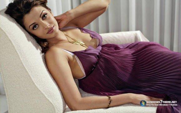 Free Aishwarya rai Theme for Windows 7 Evening Gown