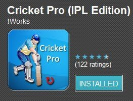 Free Android app updates about current and upcoming cricket matches