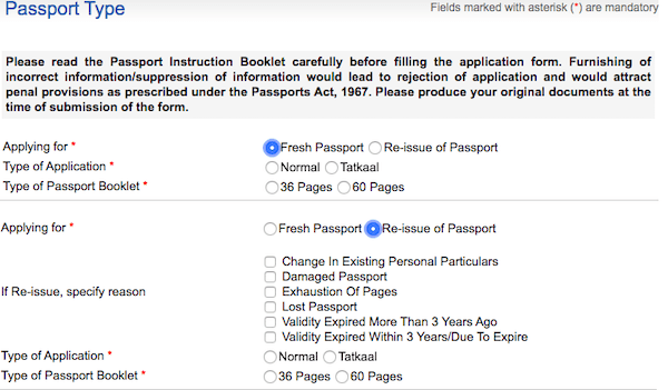 Fresh Reissue Passport Options