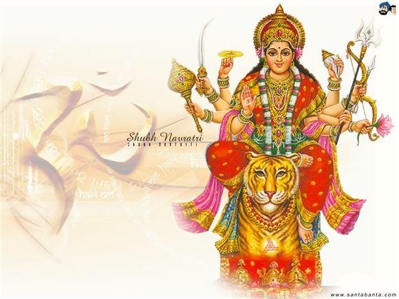 Goddess Durga and OM