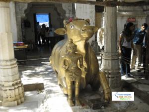 Golden Nandi at Gomukh Temple