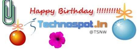 Happy Birthday Technospot.in