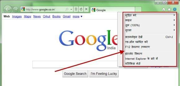 IE 9 Hindi Version