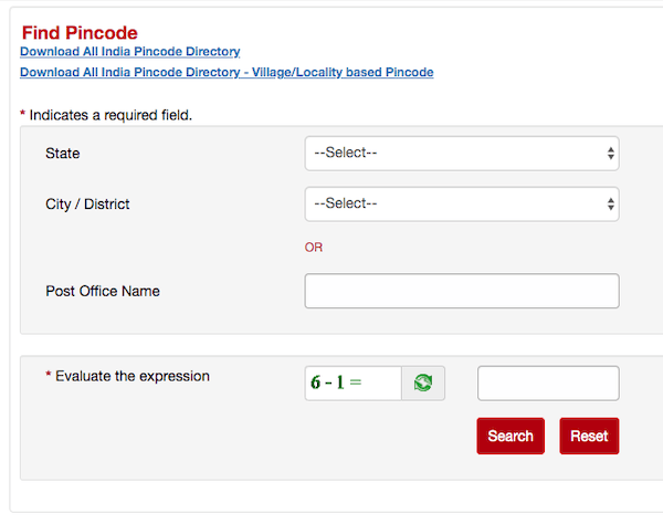 Find pincode information in India