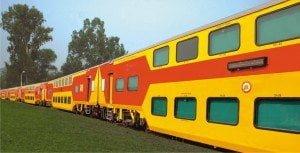 Indian Double Decker Train Close View