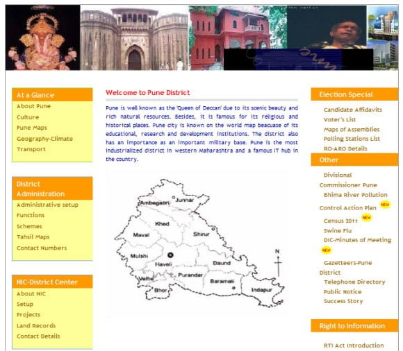 Official Website of District Pune via Districts of India