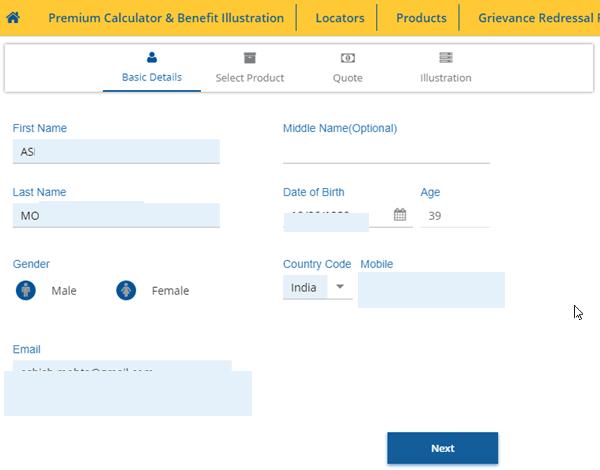 Online LIC Premium Calculator and Comparison