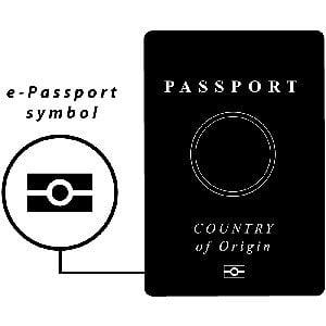 RFID chip Postion on passport
