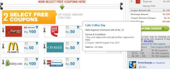 Recharge your mobile for free, almost, get paid back in form of discount coupons