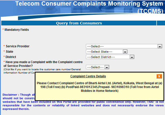TCCMS Guide to Telecoms Contact Details