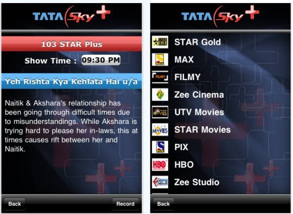 Tata Sky Recoding iPhone