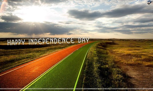 Tricolor Road Free Independence Day Theme for Windows 7