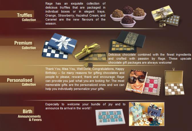 Types of Rage Chocolates