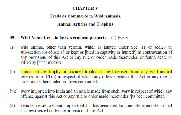 Wild Life Act 1972