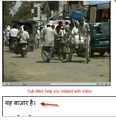 Hindi learning with video