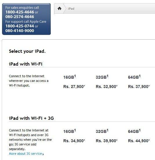 iPad India Pricing