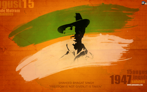Download Independence Day Wallpaper Bhagat Singh