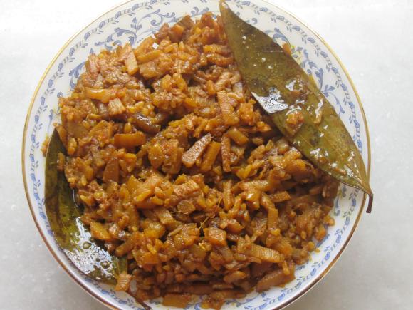 Spicy Banana Stem Dish